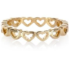 River Island Gold Tone Heart Thumb Ring ($3.23) ❤ liked on Polyvore