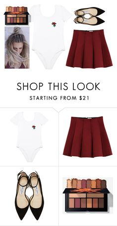 """""""Rose Leotard"""" by ac-4am on Polyvore featuring Outstanding Ordinary and Jimmy Choo"""