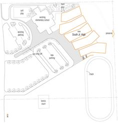 Site Plan - Lawrence South Junior High School  - Architecture - Gould Evans