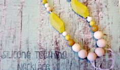 Teething Necklace/ Silicone teething necklace necklaces are: Food grade silicone teething beads. Sized 9mm to 18mm. Soft on babies gums and No BPA, phthalates, cadmium, lead, metals.Can be cleaned with dish soap and water.Necklaces have a breakaway clasp for safety. Necklaces are a great sensory tool to help babies focus while nursing or being carried either in your arms or carrier!Silicone by InBetweenTheRaindrop on Etsy