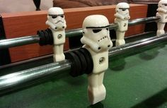 Printed Stormtrooper Helmets Turn A Foosball Table Into An Imperial Battle (.aaaand now I need a foosball table) Man Up, 3d Prints, Geek Out, Entertainment Room, Photos Of The Week, Game Room, Man Cave, Cool Photos, Geek Stuff