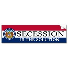 Shop Missouri Secession Bumper Sticker created by GaltNow. Honor Roll, Car Sit, Bumper Stickers, Missouri, Adhesive, Reflection, Hold On, Conditioner, Politics