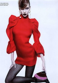 Karlie Kloss - red dress