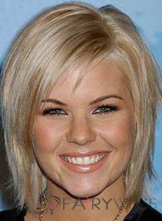 Capless Short Blonde Female Celebrity Hairstyle