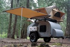 TerraDrop Off-Road Trailer. buyers can customize it however they choose. Options range from the basic foldable cup holders to rooftop tent systems and kitchen packages. Yes, you can even upgrade the mattress to a custom pillow top made from bamboo memory foam.
