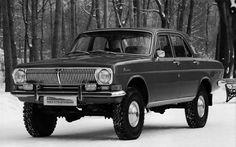 Experimental Soviet Cars: GAZ-24-95 was a 4×4 off-road version of GAZ-24 Volga. Only 5 cars were ever built. Read more at http://www.awesomy.com/soviet-car-prototypes/#MtHhvmdUpQtAGUFM.99