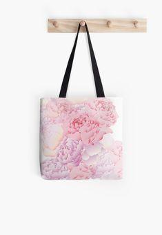Peonies Bag! #redbubble #peonies #pastell #school #woman #bag