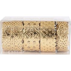 Gold Foil Lace Tape - to wrap around vases