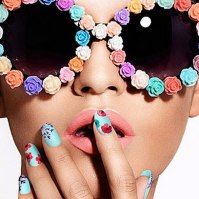 Decorate sunglasses with broken stud earrings- 80's circles- those clay flowers types that just don't look good on me...