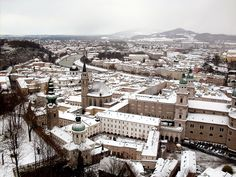 Salzburg in the snow~ BEEN HERE!!!... but during the fall