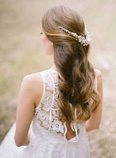 SONNET bridal headpiece - Percy Handmade | Nothing says splendour in the grass quite like whimsical floral details, shimmering pearls and delicate beading