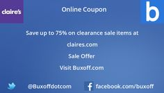 Latest claires-com Coupon on Buxoff Visit to know more