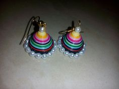 colourful jhumka