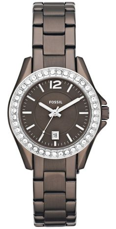 #Fossil #Watch , Fossil ES3031 'Small Riley' Round Bracelet Watch Brown