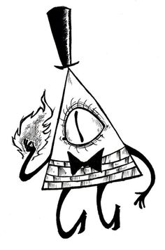 Bill Cipher Coloring Pages Fall Drawings, Creepy Drawings, Dark Art Drawings, Pencil Art Drawings, Drawing Sketches, Tattoo Drawings, Tattoos, Gravity Falls Bill Cipher, Gravity Falls Art