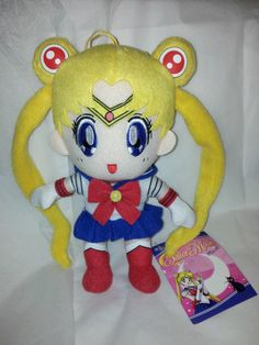 "New Sailor Moon Plush Doll 8"" in."