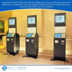 Tucana's #SelfService #Kiosk offers #fast and #reliable #hotel check in and check out without staffs help, to complement your #hotel #reception #desk at rush hours or during times you need your #hotel #staff to be more available. #TucanaGlobalTechnology #Manufacturer #HongKong