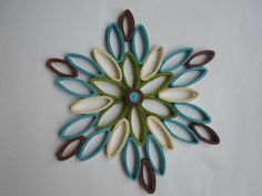 Turquoise wall hanging Modern wall decor Paper wall art