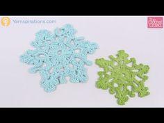 Crochet Twinkling Snowflake Tutorial - YouTube