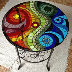 ideas diy table top pattern for 2019 Mosaic Tray, Mosaic Tile Art, Mosaic Artwork, Mirror Mosaic, Mosaic Crafts, Mosaic Projects, Mosaic Glass, Mosaic Table Tops, Mosaic Drawing