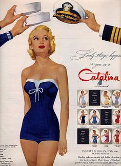 lovely things happen in a catalina. why can't the style for swim suits today, be what it was then??? ugh... #borninthewrongdecade