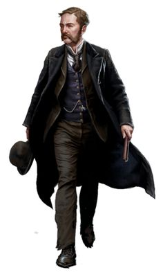 Bluecoat, Blades in the Dark Steampunk Characters, Dnd Characters, Fantasy Characters, Fantasy Figures, Game Character, Character Concept, Concept Art, Frederick Abberline, Call Of Cthulhu Rpg