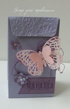 Stanz- und Falzbrett für Geschenktüten, Verpackung, Geschenk, stampin'Up!, scrapyourmind, Ideen zum neuen Stanzbrett