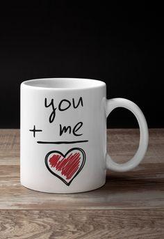 Du + Ich = ❤️ - Mugs, Mugs, Mugs - Valentines day Valentines Day Chocolates, Valentines Mugs, Valentines Day Gifts For Her, Christmas Gifts For Her, Valentine Day Crafts, Valentine Coffee, Special Gifts For Him, Thoughtful Gifts For Him, Gifts For Hubby