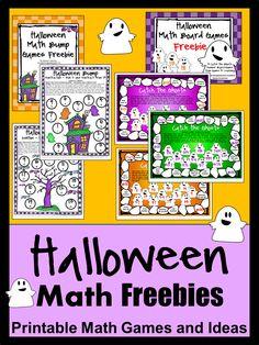 FREEBIES - Halloween Math Games and Halloween Math Ideas Happy Halloween!
