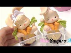 Coelhinha em Biscuit para lembrança de Páscoa - YouTube
