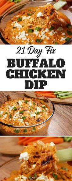 21 day fix buffalo dip - crockpot or instant pot