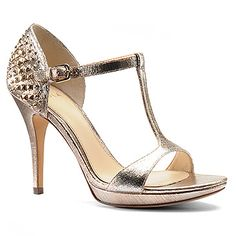 Isola Ivalee Gold Metallic Painted Heels
