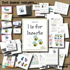 I is for Insects:  Preschool Lesson Plans from edlah.com...I think I'll do these plans in 2 weeks. SOOOO excited!: