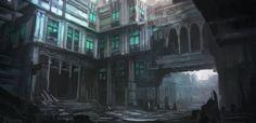 Gloomy city mood sketch by Tryingtofly