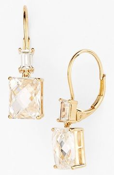 Boxed Square Drop Earrings