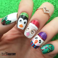 The #Holiday #season@is in full swing and new uploads are full of #Holiday cheer!  From #Santa to #Channukah to #snowflakes to #candycanes.... we have lots to #celebrate this year! Like this #nailinspo by @nailsanatomy's latest upload on Nailstyle