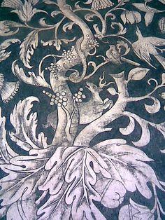 Murales del Convento, detalle de venado y serpiente
