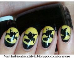 Halloween Easy Nail Art Video Tutorials 1 | fashiontrendstyle.blogspot.com