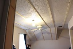 DIY - Bead board Ceiling...nail firing strips to attach planks