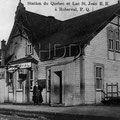 La gare de Roberval dans les années 1910. Collection Jean Gagnon