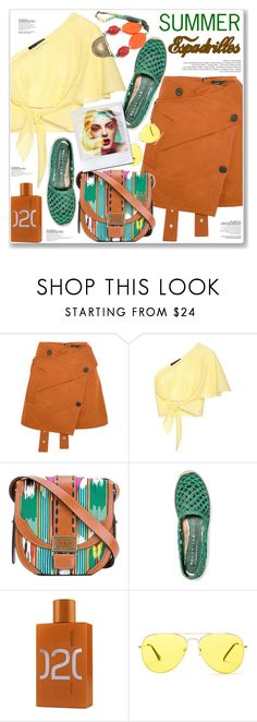 """SUMMER ESPADRILLES"" by nanawidia ❤ liked on Polyvore featuring Proenza Schouler, Anna October, Etro, Paloma Barceló, Escentric Molecules, Sunny Rebel and JEM"