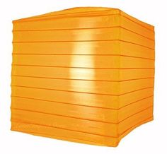 """10"""" Orange Nylon Square Lantern by Asian Import Store, Inc.. $4.95. This Orange nylon square lantern is durable and long lasting. This lantern has a shimmer to it which regular paper lanterns do not have. Great for outdoors, this lantern is much more durable outdoors than regular paper lanterns.  Dimensions: 10"""" Sq.  (All lanterns sold without cord, cord must be purchased separately)"""