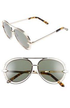 Jacques  Aviator 57mm Sunglasses Buy Sunglasses, Karen Walker, Aviation,  Sunnies, 30b3b9902e26