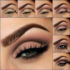 Step pictorials are detailed and easy to follow for those who don't really pay attention to product placement! You can see the colors and how the eye beautifully transforms...