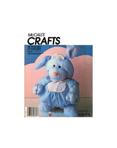 McCall's 3020 Puffalumps Lovable Lumps of Snuggly Stuff, Hug A Dog with Jumpsuit Soft Toy, Uncut, Factory Folded, Sewing Pattern Stuffed Toys, Smurfs, Hug, Sewing Patterns, Jumpsuit, Teddy Bear, Crafts, Handmade, Stuff To Buy