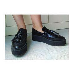 Nice shoes!! #shoes #mango #black #platforms