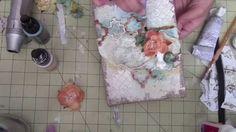 Mixed media burlap canvas. Start to finish canvas.
