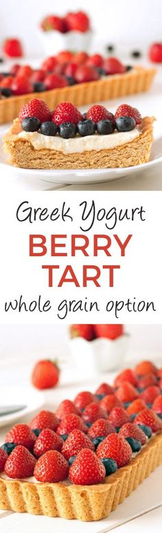 Whole Grain Greek Yogurt Berry Cookie Tart – can also be made with ...