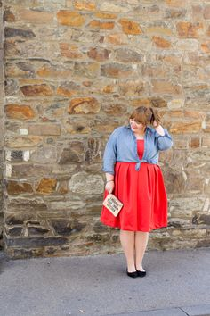 Star Style Steal: Plus Size outfit inspired by Mary Lambert Plus Size Fashion For Women, Plus Size Womens Clothing, Size Clothing, Plus Size Dresses, Plus Size Outfits, Dress With Jean Jacket, Dresser, Viking Clothing, Stylish Plus