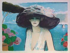 Jean-Pierre Cassigneul | Alnorum Art Le Pin Parasol Techniek: Kleurenlitho  Jaar van uitgifte: 1982 Genummerd en handgesigneerd Afmetingen: 61 cm x 81 cm (papier)
